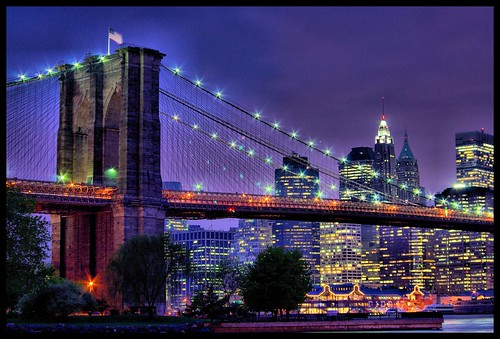 Brooklyn Bridge and Lower Manhattan par Johnny Blough's K10D