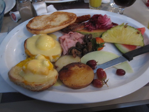 Breakfast at La petite Marche for me and Pat - $35 with tip