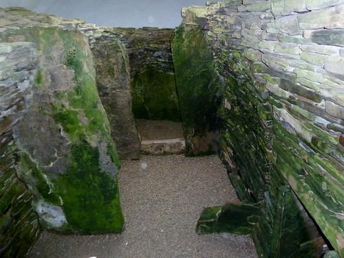 Inside Unstan Chamberd Cairn, Orkney