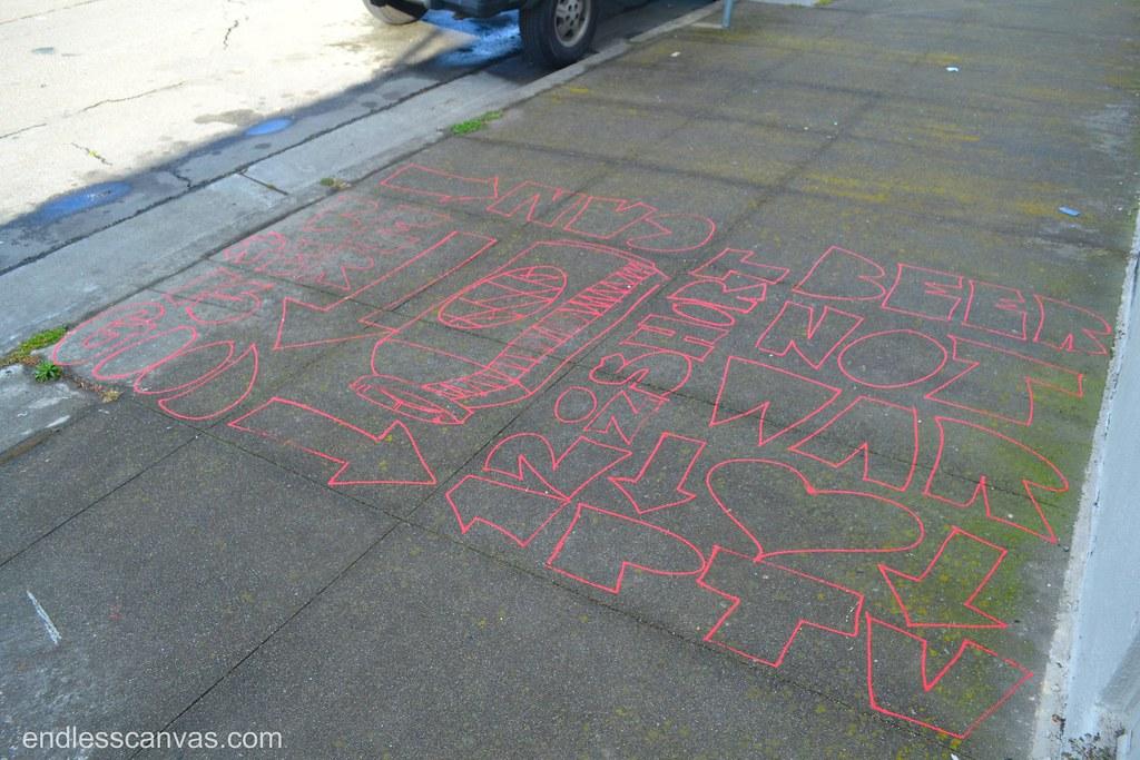 BROKE, PTV, Oakland, Street Art, 12oz, Short Can, Beer is Good, Graffiti,