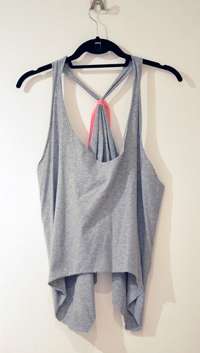 cropped tank diy gray and neon watermelon
