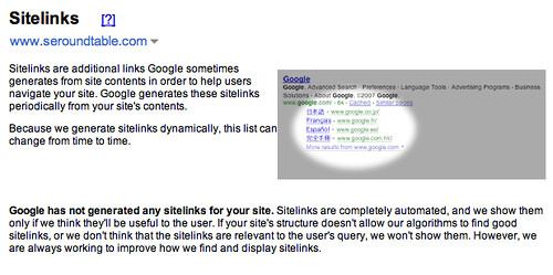 Google Sitelinks Live?