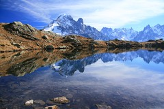 Reflection (Fredww) Tags: autumn lake france mountains alps reflection fall alpes automne lac chamonix montblanc lacblanc chsery balconsud