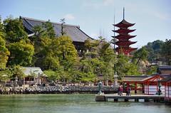 Senjokaku & Pagoda (jpellgen) Tags: ocean sea water japan ferry island temple japanese pagoda nikon shrine asia mt sigma unesco hiroshima miyajima mount  nippon shinto  nihon vermilion worldheritage itsukushima unseco  2016 misen  senjokaku hatsukaichi gojunoto chugoku 1770mm tairanokiyomori d7000