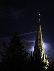 Llandaff Cathedral (The Groovster) Tags: november moon wales night cathedral cymru cardiff 100v10f llandaff peopleschoice wowiekazowie diamondclassphotographer onlythebestare excapture thegroovster