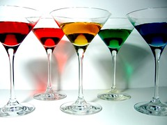 Rainbow Martinis (Molly Quist) Tags: blue red orange color colour glass yellow glasses bay rainbow san francisco drink martini molly alcohol area martinis alchohol quist sfchronicle96hrs superaplus aplusphoto flickrdiamond superhearts colourartaward platinumheartaward vividmasters artlegacy