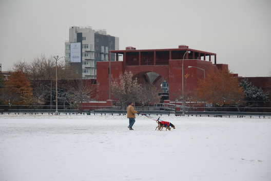 McCarren Park Pool Snow