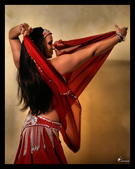 Annamitra 01 (Savage Land Pictures) Tags: red woman bellydancer olympus dancer realbeauty 285hv stobist