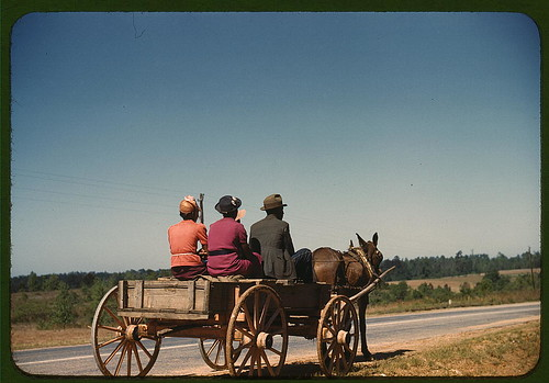 Going to town on Saturday afternoon, Greene Co., Ga. (LOC)