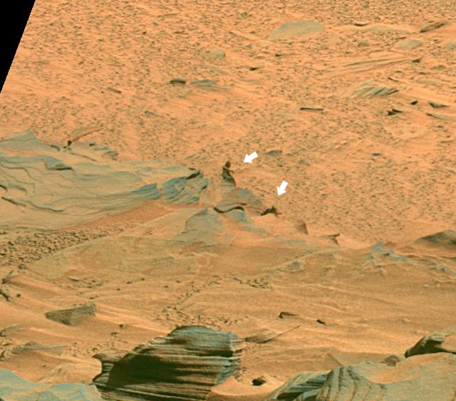 Mystery figure on Mars. What is it?