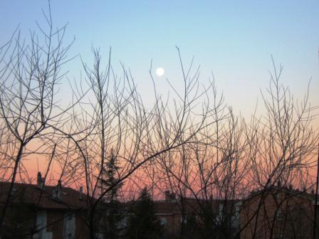 Luna poco dopo l'alba
