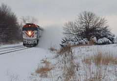 Metra 137 Westbound After Some Snow (Jim Frazier) Tags: railroad trees winter red brown white snow cold up rural speed train landscape countryside illinois scenery v100 country machine freezing fast railway blowing running run fv5 f10 brush il equipment business machinery engines unionpacific g1 commuter g2 f3 kanecounty kane westchicago february metra speedy frigid quick 2008 f5 scrub railfan blowingsnow q3 apparatus locomotives 137 v200 f35 undergrowth f20 railfanning v500 v1000 threequarterview 34view v2000 interestingness82 explored trainwatching metx 200802snowtrainsinwestchicago oldkirkroadcrossing genevaarea genblog jimfraziercom wmembed