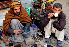 Mobile Cobbler at Gujarkhan, Pakistan (friend_faraway ...Back Home~) Tags: pakistan men shoes market tea streetphotography bazaar punjab fabulous cobbler chay blueribbonwinner supershot 5photosaday diamondclassphotographer flickrdiamond gujarkhan fotogezgin thebestofday gnneniyisi wowiekowazie