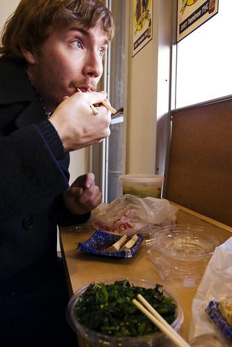 Tristan eats