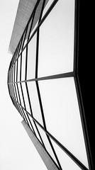 silence (Veronika K) Tags: windows sky bw building glass architecture perspective tall bratislava