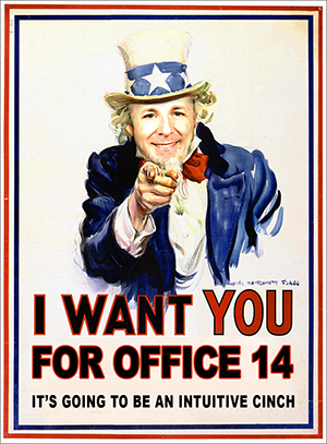 Click to enlarge - I Want You For Office 14