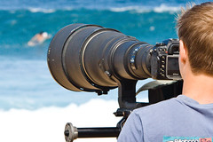 Monster Lens (Kanaka Menehune) Tags: beach lens hawaii nikon oahu northshore pipeline ehukai