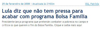 Globo Online 25fev08