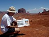 Advisor Phil Peters at Monument Valley, Utah
