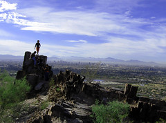 Piestewa Peak, Phoenix, Arizona (moonjazz) Tags: city arizona sky urban phoenix beautiful wonderful climb view exercise walk top citylife peak hike victory health viewpoint arid conquer piestewa achieve mywinners