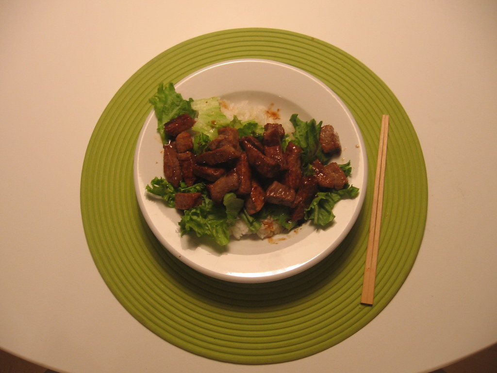 home-cooked steak donburi
