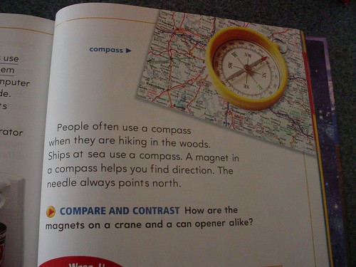 Science textbook error: Compasses do NOT have magnets in them!