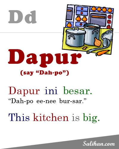D=Dapur