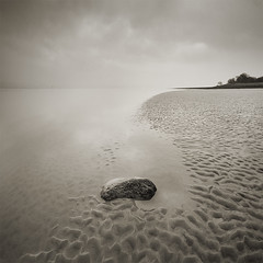 Impermanence (jasontheaker) Tags: uk sea mist landscape bravo peace been1of100 calm cumbria quicksand landscapephotography jasontheaker pprowinner