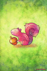 iPhone/iPod touch Wallpaper #018 (ATELIER302) Tags: pink wallpaper kids illustration squirrel sweet chipmunk lovely iphone japaneseartist degitalart ipodtouch iphonewallpaper