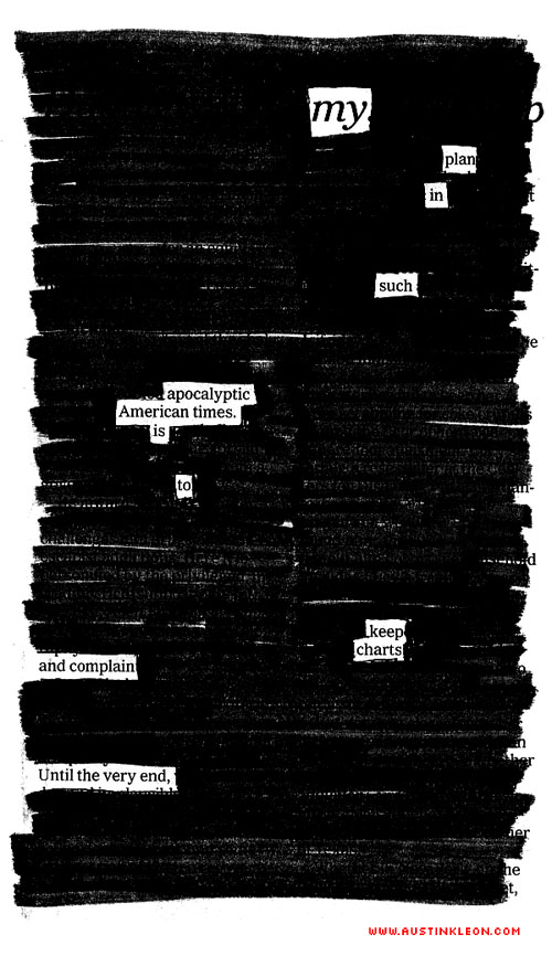 newspaper blackout poem