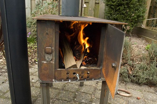 Homemade woodstove burning - Homemade Wood Stove Keeps My
