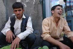 Contrasting moods (CharlesFred) Tags: peace middleeast syria hospitality aleppo siria honour  syrien syrie alep suriye haleb  syrianarabrepublic    streetsofaleppo shoufsyria    welovesyria aljumhriyyahalarabiyyahassriyyah siri