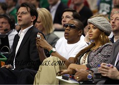beyonce jay-z cavs game