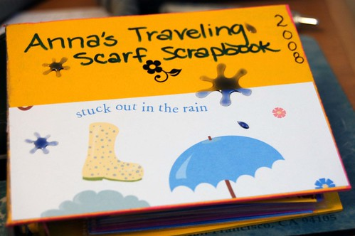 traveling scarf scrapbook