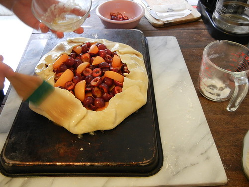 Peach and Cherry Galette _ 3026