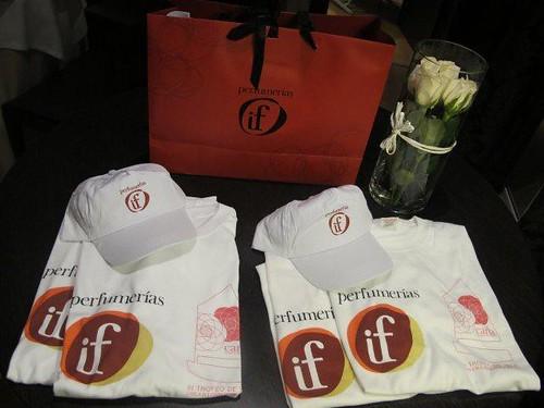 Regalos, camisetas, gorras y cremas de Perfumerías IF