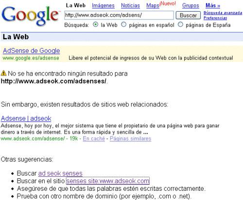 google corrige url