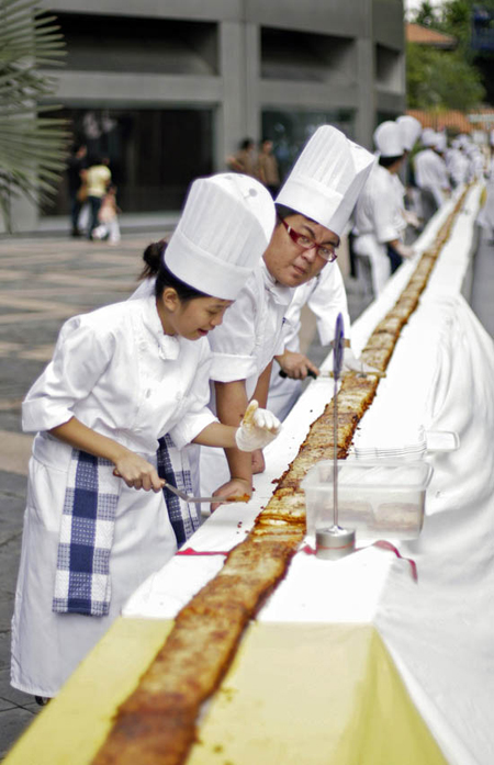 560 metre long lasagna