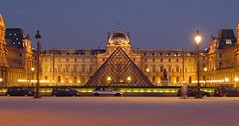 the Louvre, with I.M. Pei's pyramid