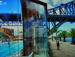North Sydney Pool and Harbour Bridge, Sydney, Australia (henriette_von_ratzeberg) Tags: reflection pool sydney australia newsouthwales harbourbridge northsydneypool onlyyourbestshots wowiekazowie jalalspages