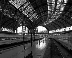 Punto de partida, punto de destino, punto de encuentros.... (SlapBcn) Tags: barcelona bw train tren estacion slap blancinegre estaciodefrana canong7 theperfectphotographer bwartaward slapbcn