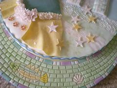 "SUGARPASTE PROJECT No.2-""???"" (rosey sugar) Tags: party baby bird animal cake penguin mosaic decoration royal sugar queen celebration icing piping brithday petit miniture sugarcraft"