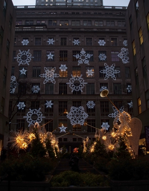 snowflakes and angels, Saks Fifth Avenue, Manhattan
