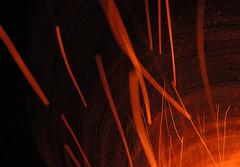 infernal (Ben Kimball) Tags: orange night gateway underworld streaks sparks 03301 roveslair