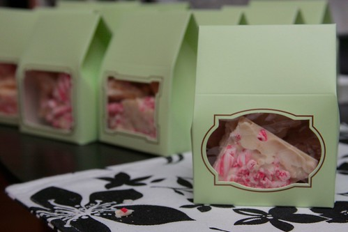 peppermint bark all packaged up