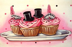 Happy New Year!!!! xoxo Jenny & Aaron (holiday_jenny) Tags: pink black tiara art glitter painting cupcakes handpainted newyearseve happynewyear tophats everydayisaholiday