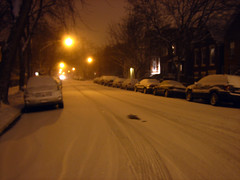 Our street covered in snow