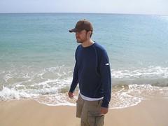 Mark at Penghu beach TW (LarrynJill) Tags: travel family thailand heidi asia mark taiwan picnik
