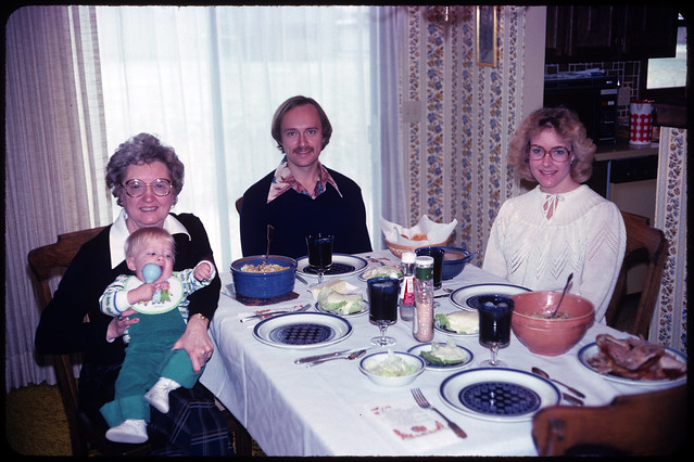 1979 11 Ekwall - Frances Irene Spencer Ekwall, Adam Spencer Thede, Larry Dale Thede, and Laurie Irene Ekwall Thede
