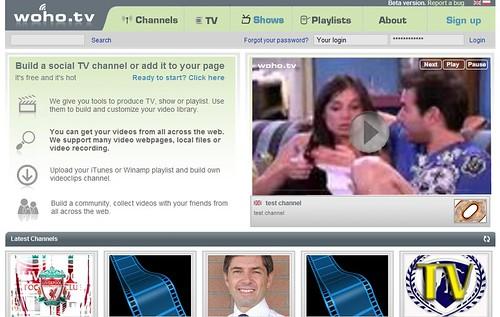 Homepage de Woho.tv